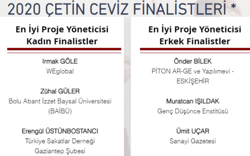 """Erengül Üstünbostancı """"2020 Çetin Ceviz'de ilk 3 Finalistler"""" Arasında"""